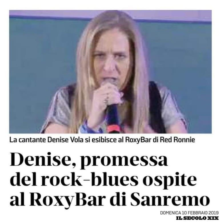 Denise Vola si esibisce al Roxy Bar di Red Ronnie