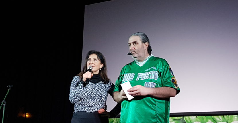 Massimo Morini (Buio Pesto) e Enza Nalbone al Teatro Comunale di Cicagna
