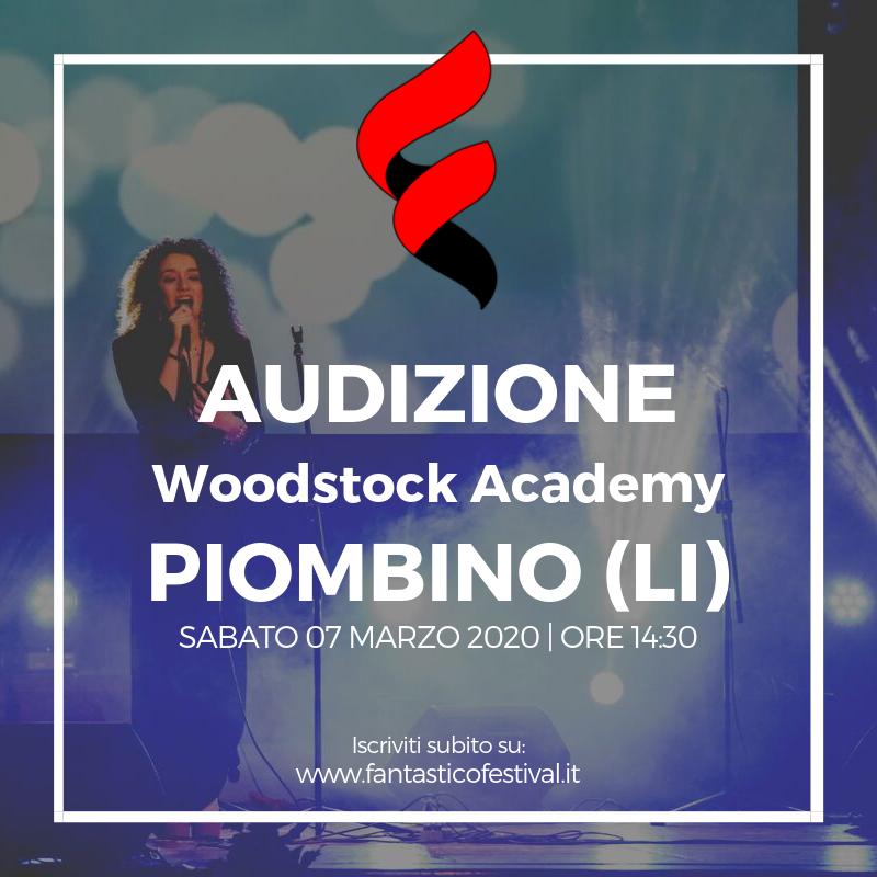 Audizione Fantastico Festival 2020 Woodstock Academy Piombino Livorno