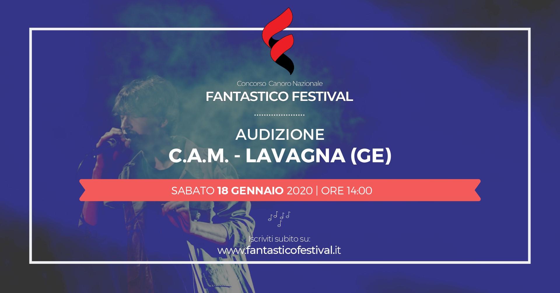 Audizione Fantastico Festival 2020 Cam Lavagna concorso canoro