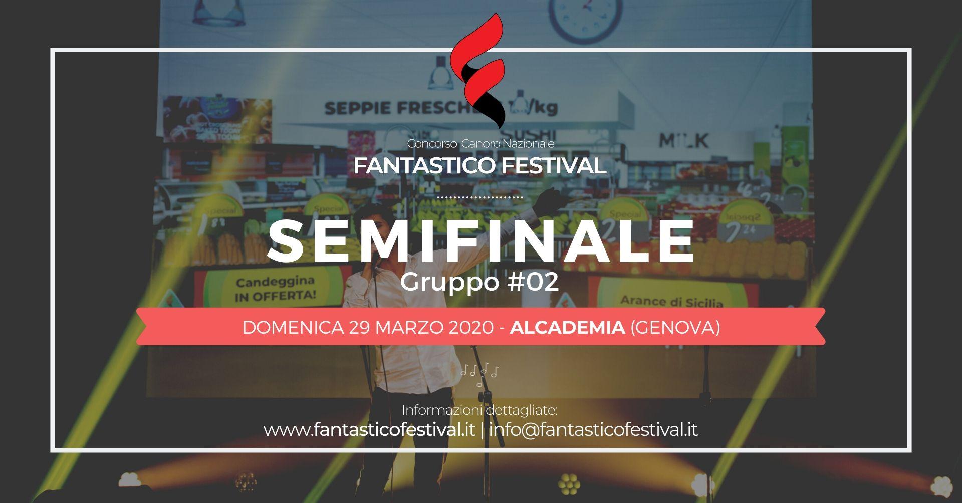 Concorso canoro Fantastico Festival Semifinale gruppo 2 COVER 2020
