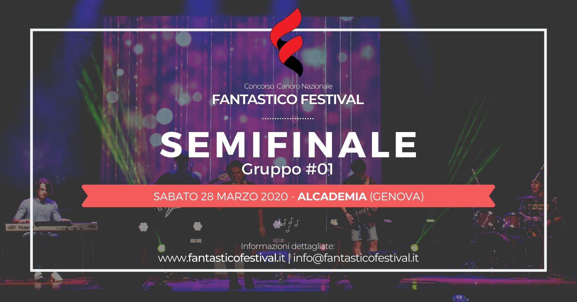 Concorso canoro Fantastico Festival Semifinale gruppo 1 COVER 2020